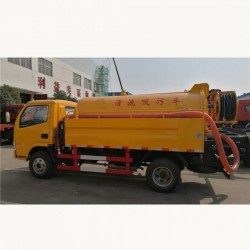 Dongfeng 4X2 5000L Vacuum Sewage Suction Tanker Truck Septic Tank Truck