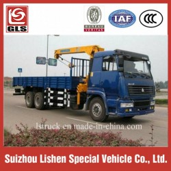 10-15 Tons Crane Truck Sinotruk HOWO 6X4 Mounted Crane for Sale