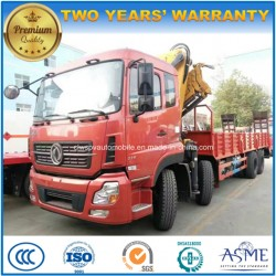 Dongfeng 12 Wheels 16 T Folding Arm Crane Mounted on Truck