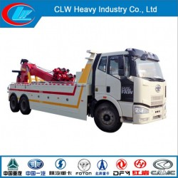 China Famous Brand Faw 6X4 240HP Road Wrecker Truck