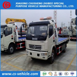 LHD 4X2 Flatbed Tow Wrecker Truck Road Block Removal Truck