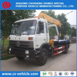 Dongfeng 4X2 3-8t Flatbed Tow Truck Wrecker Truck for Sale