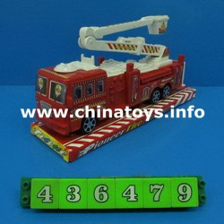 Friction Plastic Fire Engine Car, Fire Truck (436479)
