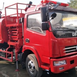 Bid Type 8000L Sinotruck Fire Extinguisher Foam Powder Water Tank Fi