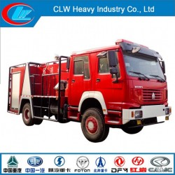 Sinotruk HOWO 4X2 5500L Water Tank Fire Fighting Truck with Water Ta