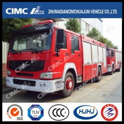 HOWO 4*2 Fire Truck with 3 Kinds Dispensing Materials (water, foam, powder)