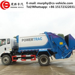 Sanitation Vehicle HOWO 210HP 4X2 10ton Rear Loaded Compactor Garbage Truck