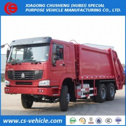 HOWO 6X4 16m3 16cbm Compressed Waste Collection Trucks Garbage Clean