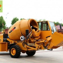 Fiori Italy Brand Mobile Concrete Mixer (HQ120) with Self-Loading Fu