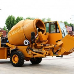 Mobile Self-Loading Hydraulic Portable Cement Concrete Mixer (HQ400) for Sale