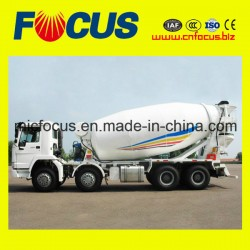 ISO Standard 14 Cubic HOWO Brand Concrete Mixer Truck with 6-Cylinder