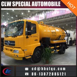 Dongfeng Tianland 8ton 10ton Vacuum Tank Sewer Suction Truck