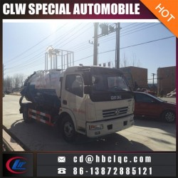 5000L Sewer Suction Vehicle Water Sprinkle Tank Truck