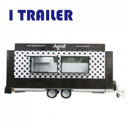 Wholesale Mobile Fast Food Trailer Snack Food Truck for Sale
