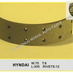 Premium Quality Brake Lining for Japanese Truck (HYNDAI-75)