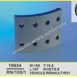 High Quality Brake Lining for Heavy Duty Truck Made in China (19934)