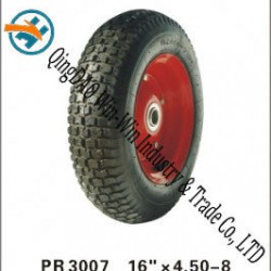 "Pneumatic Rubber Wheel for Platform Trucks Wheel (16""X4.50-8)"