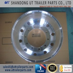 9.0x24.5 Polished Aluminum Alloy Wheel Rim for Truck and Trailer