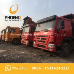 Low Price Used HOWO Dump Trucks Tipper 12 Wheels 375HP 40tons Good Condition for Africa