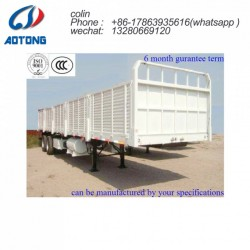 Side Wall Heavy Duty Truck Trailer with Flatbed Loading Deck