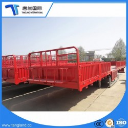 3 Axle Straight Beam Semi Trialer Used for Transporting Bulk and Big