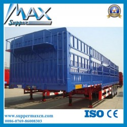 China Factory Manufacture Fence Semi Trailer 3 Axles for Livestock