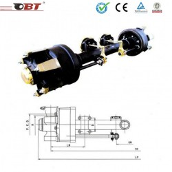 OEM Customized 13t American Type Semi Trailer Axle for Tractor