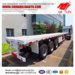 20FT-40FT Container Carrier Flat Bed Plataforma Tri-Axles Acoplado
