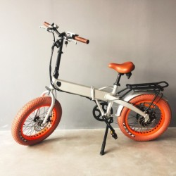 Ce Approved 36V Electric with Hidden Batteryfat Tyre Folding Ebike
