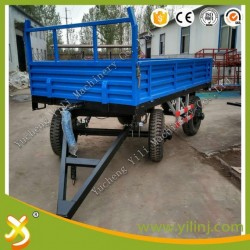2 Wheels Trailer and 4 Wheels Farm Trailer Tractor Tipping Trailer for Sale