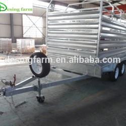 Galvanized Crate 12*6 Livestock Trailer