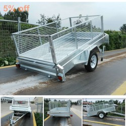 Galvanized 8X4 Single Axle Tilt Cargo Trailer with Cage
