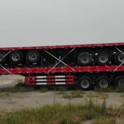 3 Axles Flatbed Truck Trailer for 20 FT or 40fr Container