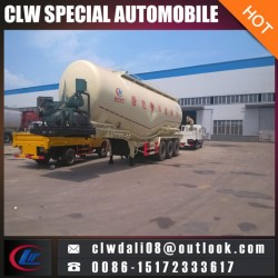 3 Axle Cement Powder Tank Truck Trailer, 30 Tons Powder Tanker Semi Trailer