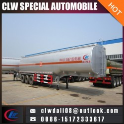 Corrosive Liquid Tanker Semi Trailer Truck, 3 Axle Semi Trailer Tanker for Corrosive Liquid Delivery