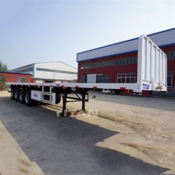 3 Axle Custom Cargo Flatbed Trailer Manufacturers Heavy Duty 20 Foot