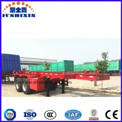 Vietnam Two-Axle 40FT Skeletal Container Truck Semi Trailer for Port