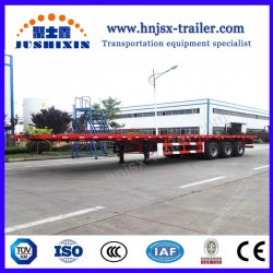 Jsxt 3 Axle Flatbed Container Semi Truck Trailer
