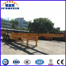 3 Axle 40FT /20FT Skeleton Container Transportation Truck Skeleton Trailer