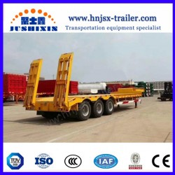 China Wind Blade Trailer Extendable Low Bed Truck Semi Trailer