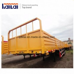 Cimc 50t Flat Bed Container Cargo Semi Trailer for Sale