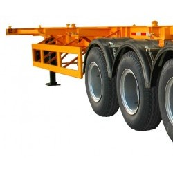 40feet Skeletal Container Semi Trailer 3 Axles