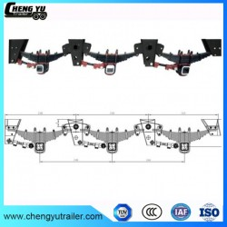 3 Axles 60 Tons Low Bed Truck Trailer Mechanical Suspension