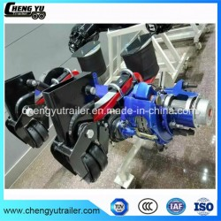 Air Suspension with Disk Brake Axle for 3*13t Tank Semi Trailer