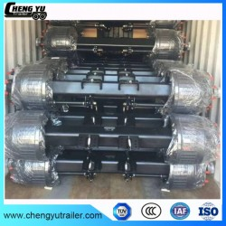 3 Axles Flatbed Trailer Axle Low Bed Semi Trailer Axle for Sale