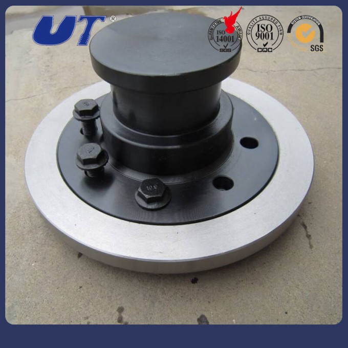 """Trailer Spare Parts 2"""" Bolted 3.5"""" Traction Kingpin Image1"""