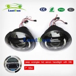 7′′ 55W H/L Beam HID Headlight for Jeep Wrangler