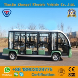 Zhongyi High Quality 11 Seats Enclosed Electric Power Electric Shuttle Bus with Ce and SGS Cetificat