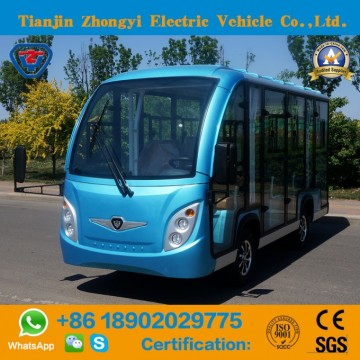 Zhongyi 11 Seater off Road Battery Powered Classic Shuttle Enclosed Electric City Sightseeing Bus wiImage
