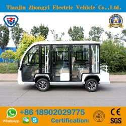 New Designed 8 Seats Enclosed off Road Sightseeing Shuttle Bus for Resort